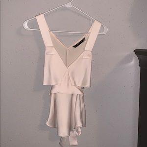 Zara cream blouse